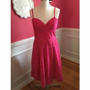 BEAUTIFUL, bright pink eyelet Lily Pulitzer dress